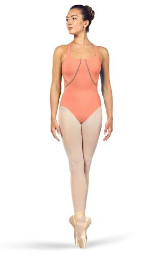 BLOCH Ladies Dance Scoop Neckline Cross Back Tank Style Leotard Marion L4947 Can